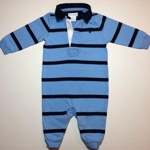 Ralph Lauren 100% Cotton Blue-on-Blue Onesie!